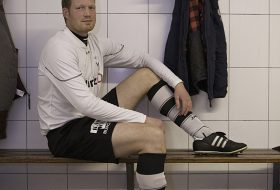 Portret voetbalspeler